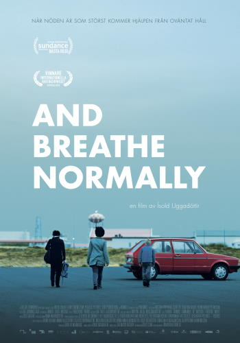 "Filmaffisch för ""And Breathe Normally"" (2018)"
